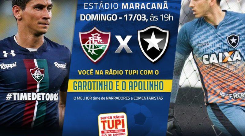 Fluminense e Botafogo se enfrentam neste Domingo no Maracanã